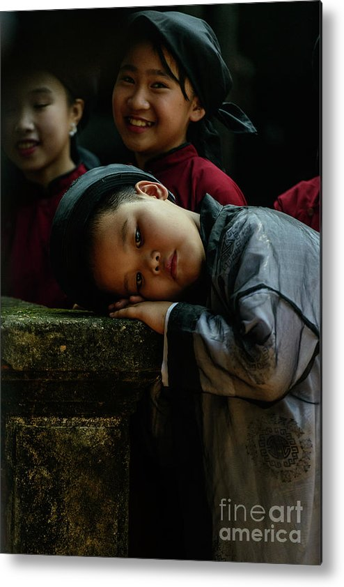 Child Metal Print featuring the photograph Tired Actor by Werner Padarin