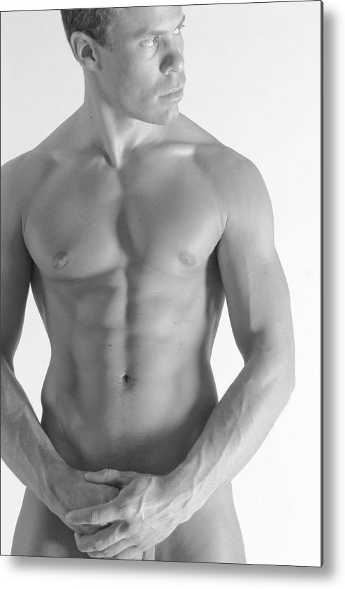 Nude Metal Print featuring the photograph Torso B by Dan Nelson