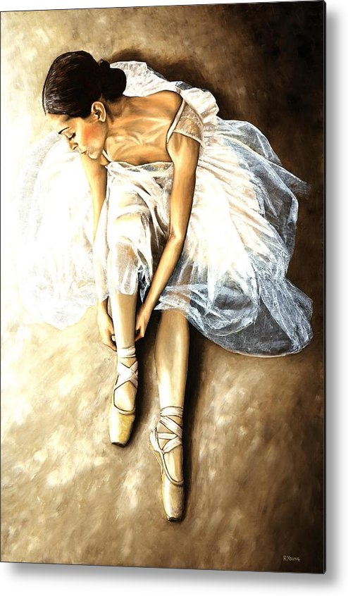 Ballet Metal Print featuring the painting Tranquil Preparation by Richard Young