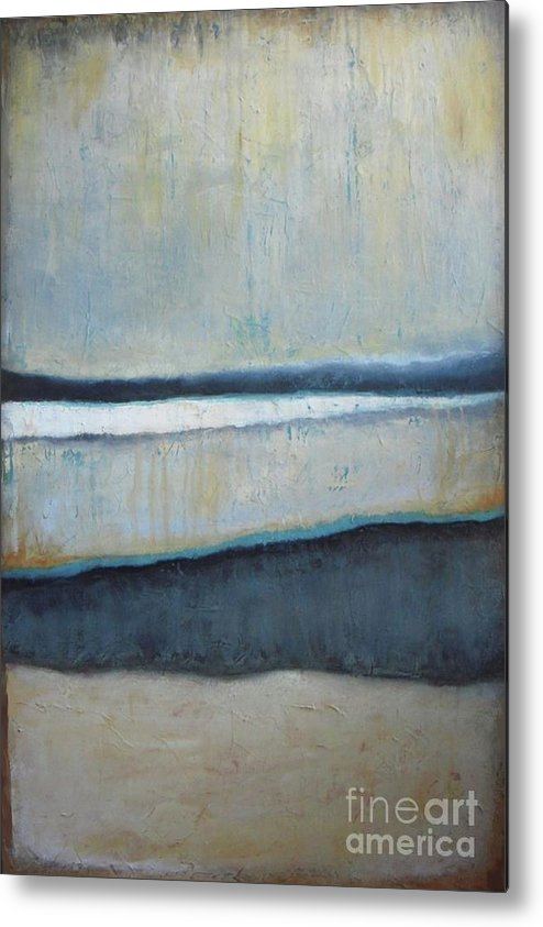 Abstract Metal Print featuring the painting Tranquility Of The Dusk by Vesna Antic