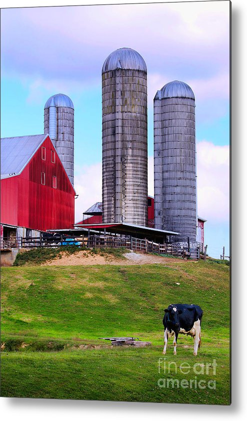 Silos Metal Print featuring the photograph Trio Of Silos by Polly Peacock