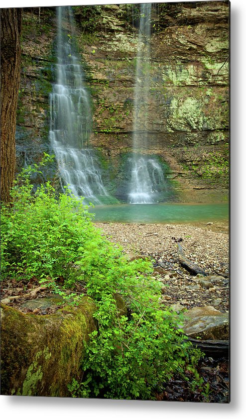 Landscape Metal Print featuring the photograph Tripple Falls In Springtime by Iris Greenwell