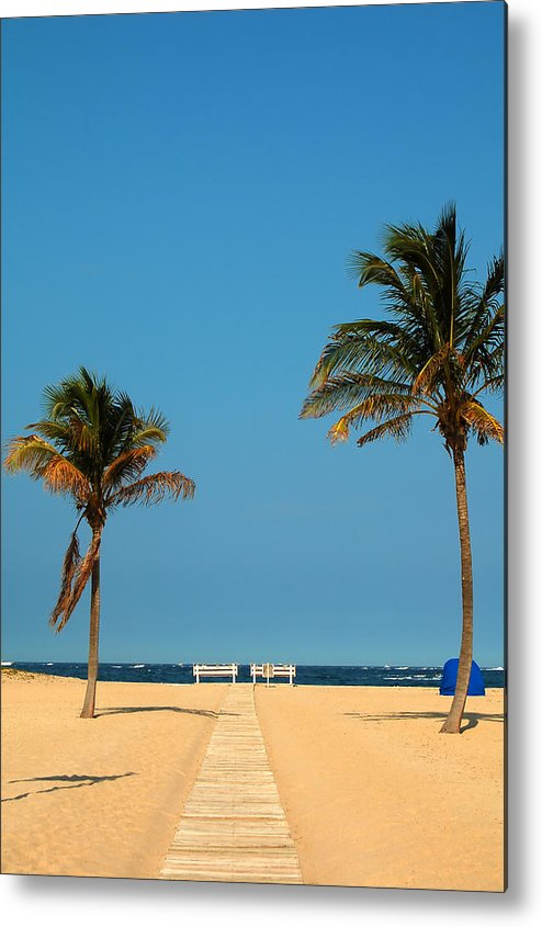 Tropical Metal Print featuring the photograph Tropical Paradise by Mandy Wiltse