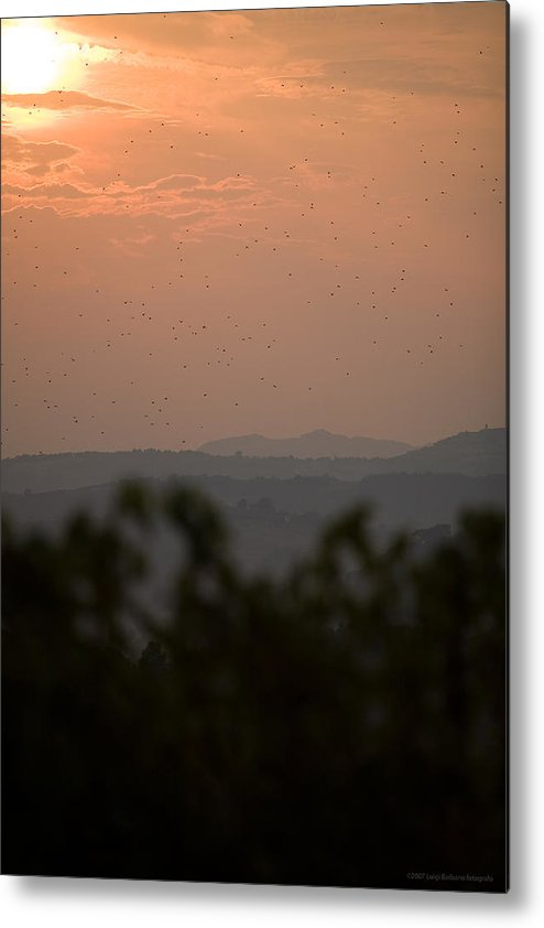Italy Metal Print featuring the photograph Tuscany Sunset 1 by Luigi Barbano BARBANO LLC