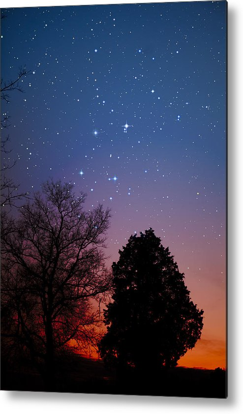 Stars Metal Print featuring the photograph Twilight Transitions by Charles Warren