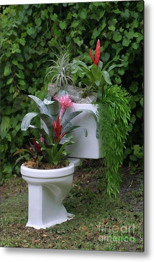 Flower Pot Metal Print featuring the photograph Ultimate Flower Pot by Dodie Ulery