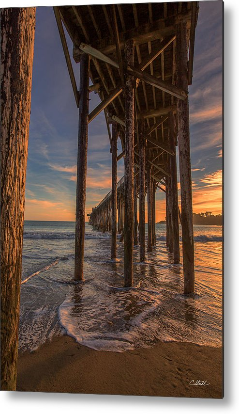 California Metal Print featuring the photograph Under The Pier by Cheryl Strahl