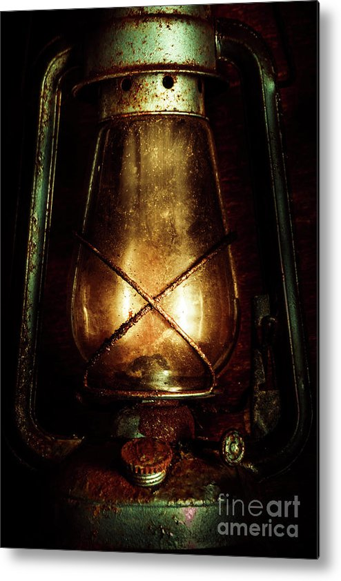 Mining Metal Print featuring the photograph Underground Mining Lamp by Jorgo Photography - Wall Art Gallery