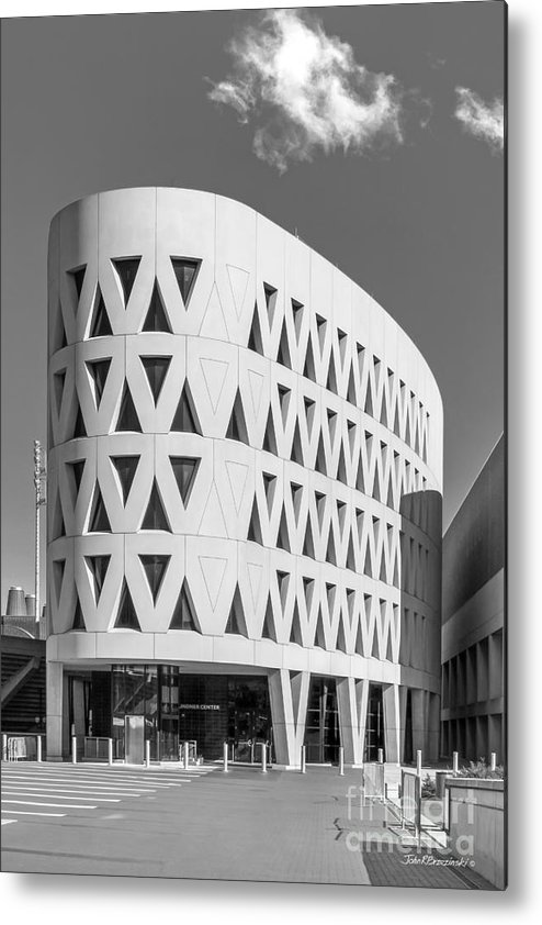American Metal Print featuring the photograph University Of Cincinnati Lindner Center by University Icons