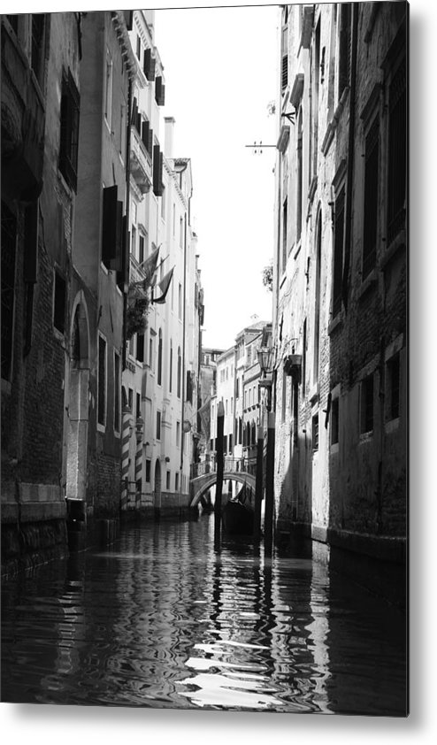 Venice Metal Print featuring the photograph Venice Canals by Greg Sharpe