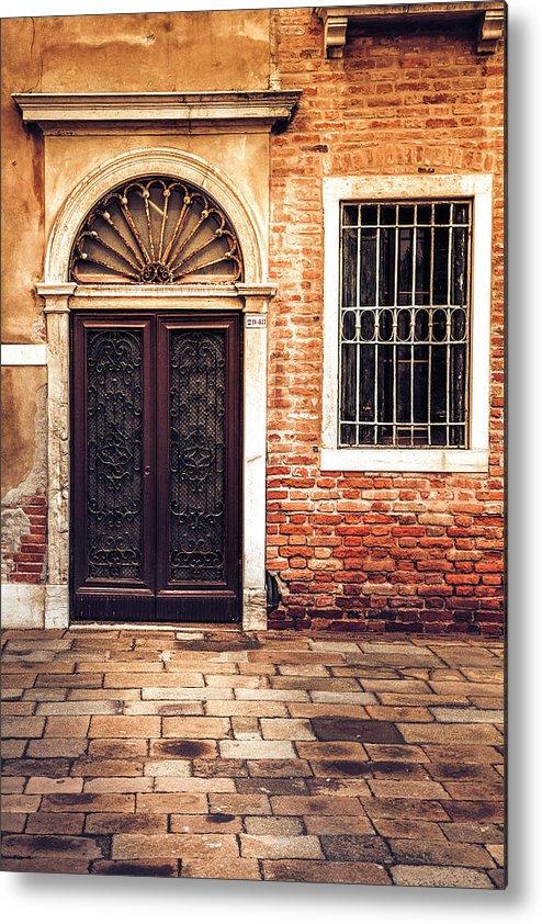 Venice Metal Print featuring the photograph Venice Door by Andrew Soundarajan