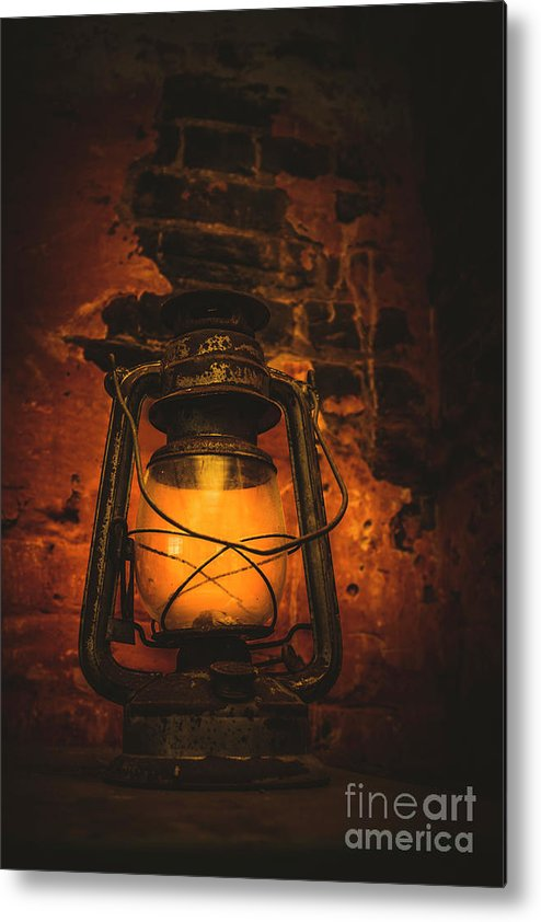 Lantern Metal Print featuring the photograph Vintage Colonial Lantern by Jorgo Photography - Wall Art Gallery