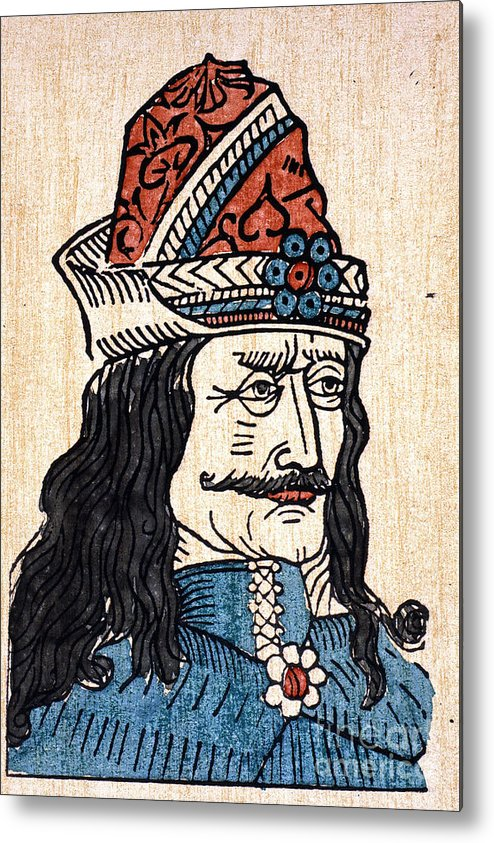 15th Century Metal Print featuring the photograph Vlad IIi (1431-1477) by Granger