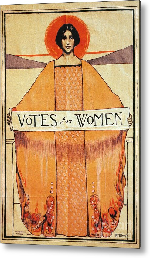1911 Metal Print featuring the photograph Votes For Women, 1911 by Granger