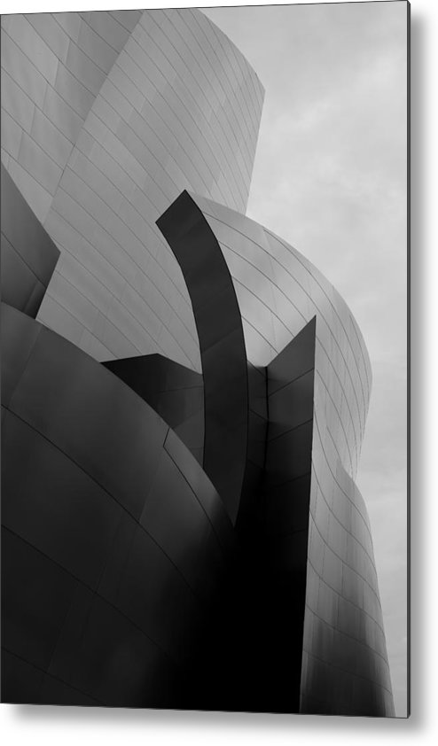 Landscape Metal Print featuring the photograph Walt Disney Concert Hall by Justin Pernas