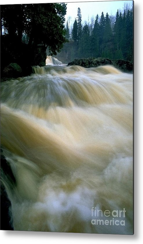 Water Metal Print featuring the photograph Water Coming Right At You by Sven Brogren