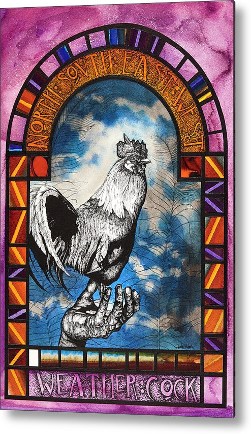 Watercolours Metal Print featuring the painting Weathercock II by David Evans