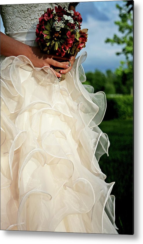 Wedding Metal Print featuring the photograph Wedding Day by Chris Fender