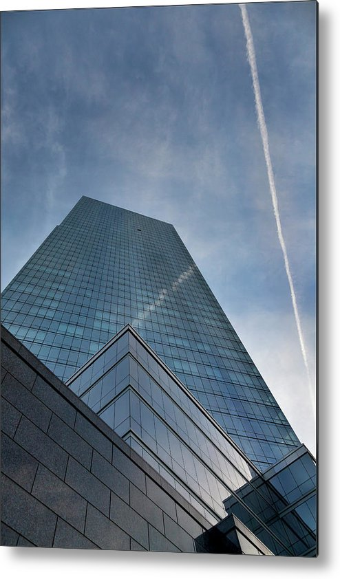Architectural Details Metal Print featuring the photograph White Plains Office Buildings 1 by Robert Ullmann