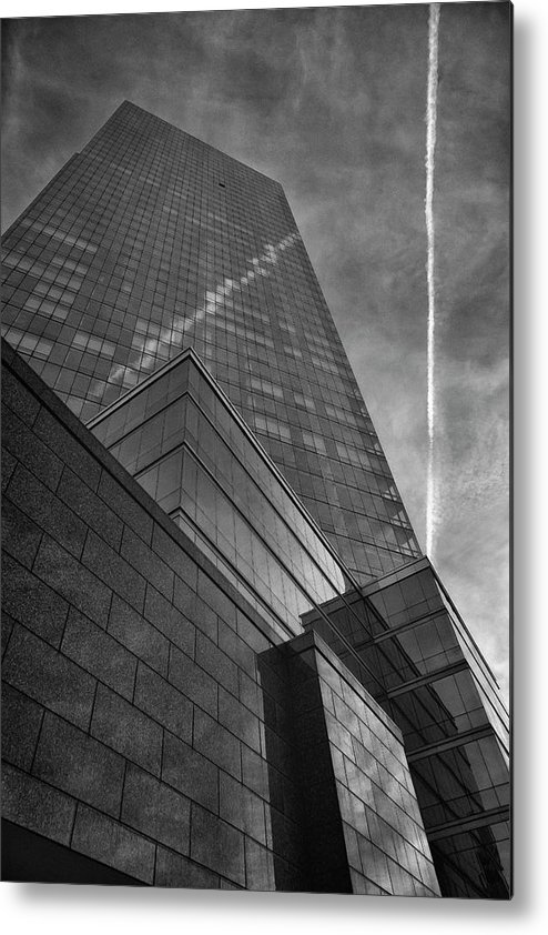 Architecture Metal Print featuring the photograph White Plains Office Buildings 3 by Robert Ullmann