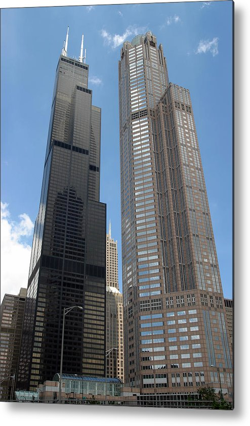 3scape Photos Metal Print featuring the photograph Willis Tower Aka Sears Tower And 311 South Wacker Drive by Adam Romanowicz