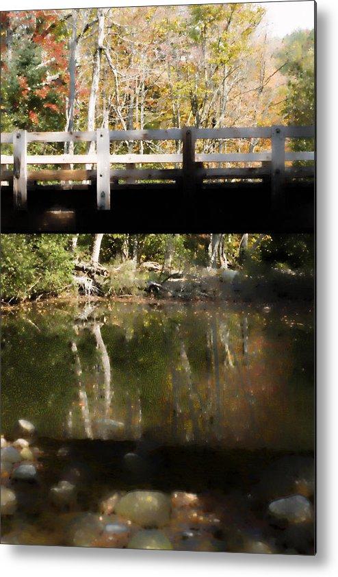 Stream Metal Print featuring the photograph Wooden Bridge by Rockstar Artworks