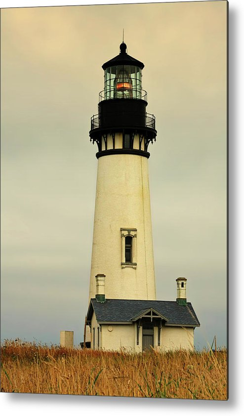 Yaquina Head Lighthouse Metal Print featuring the photograph Yaquina Head Lighthouse - Newport Or by Christine Till