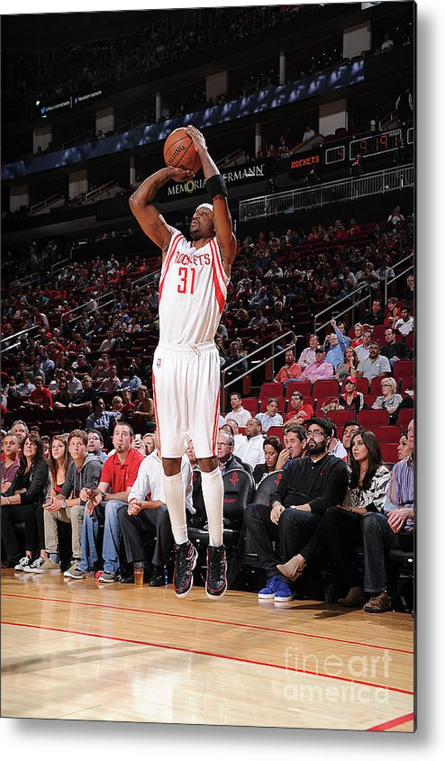 Jason Terry Metal Print featuring the photograph Sacramento Kings V Houston Rockets by Bill Baptist