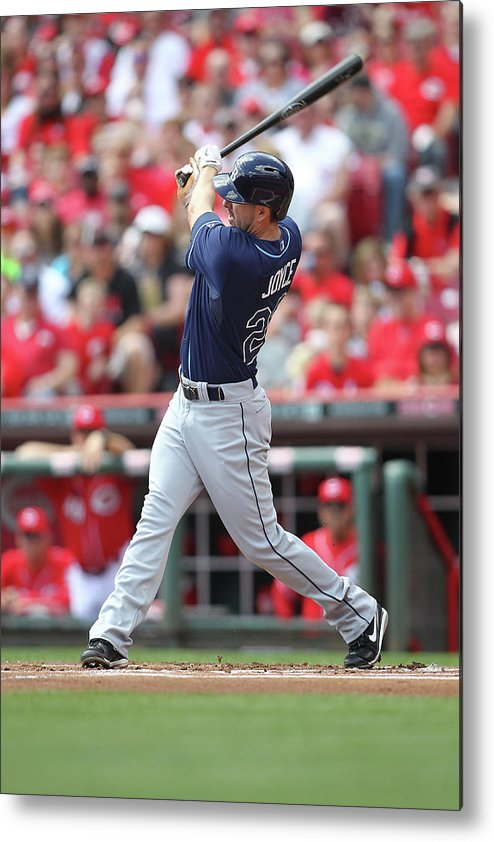 Great American Ball Park Metal Print featuring the photograph Tampa Bay Ray V. Cincinnati Reds 1 by John Grieshop