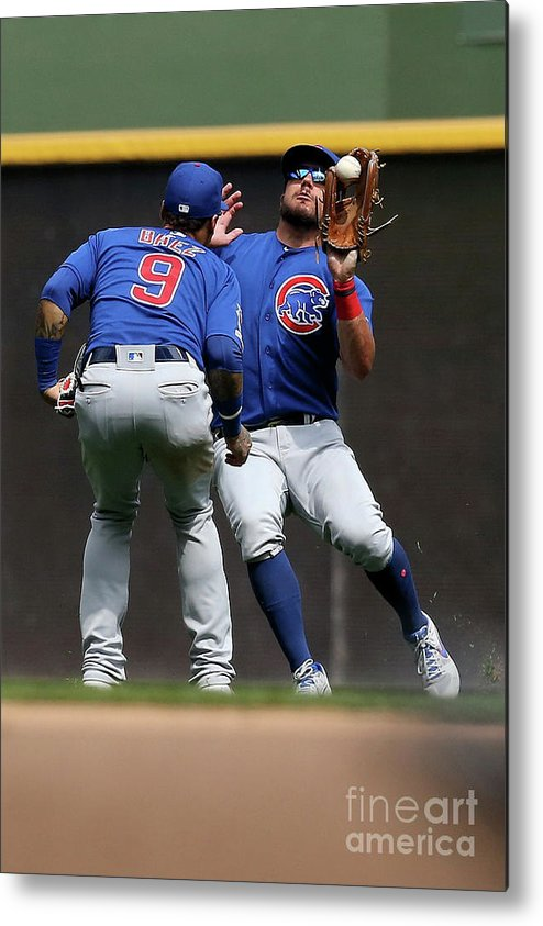 People Metal Print featuring the photograph Chicago Cubs V Milwaukee Brewers 19 by Dylan Buell