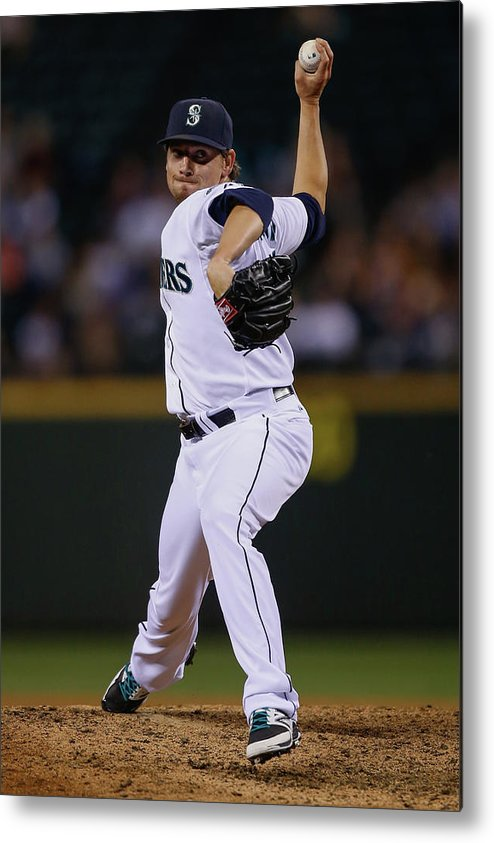 American League Baseball Metal Print featuring the photograph Boston Red Sox V Seattle Mariners by Otto Greule Jr