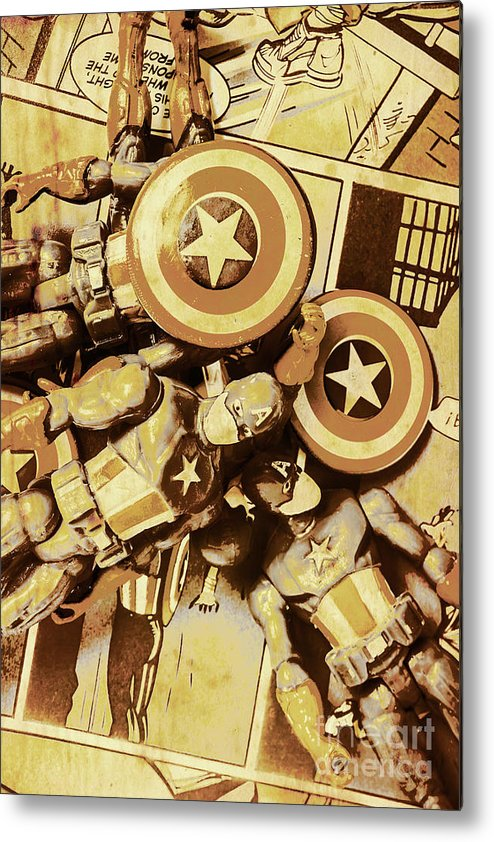 Toy Metal Print featuring the photograph Action Figure Comic Strip by Jorgo Photography - Wall Art Gallery