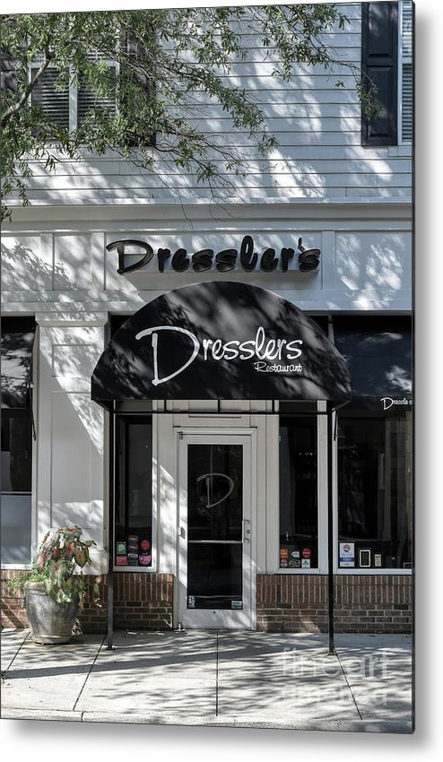 Birkdale Metal Print featuring the photograph Elegant Dresslers Restaurant by Amy Dundon