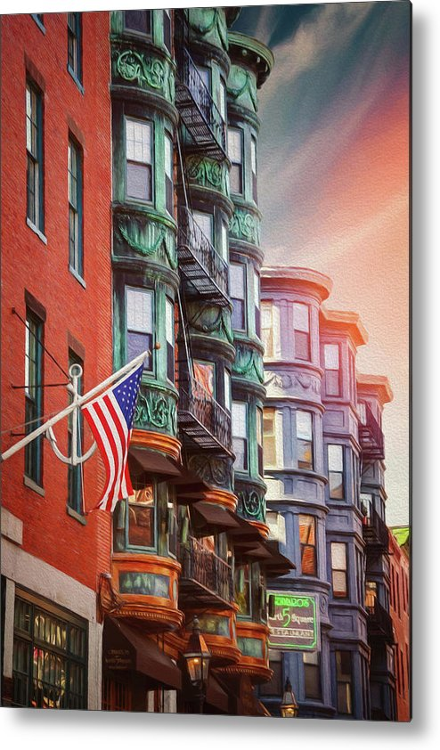 Boston Metal Print featuring the photograph Historic North End Boston Massachusetts by Carol Japp