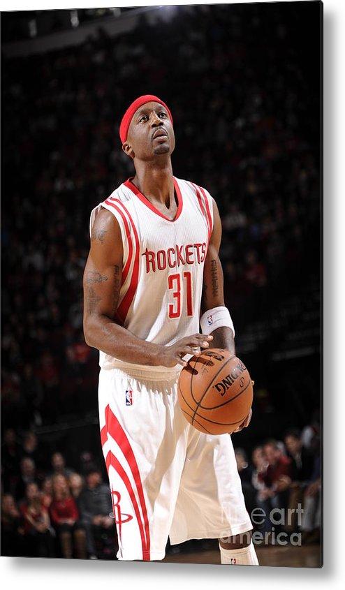 Jason Terry Metal Print featuring the photograph Milwaukee Bucks V Houston Rockets by Bill Baptist