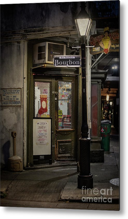 Bourbon Metal Print featuring the photograph The Darkside Of Bourbon by Judy Wolinsky