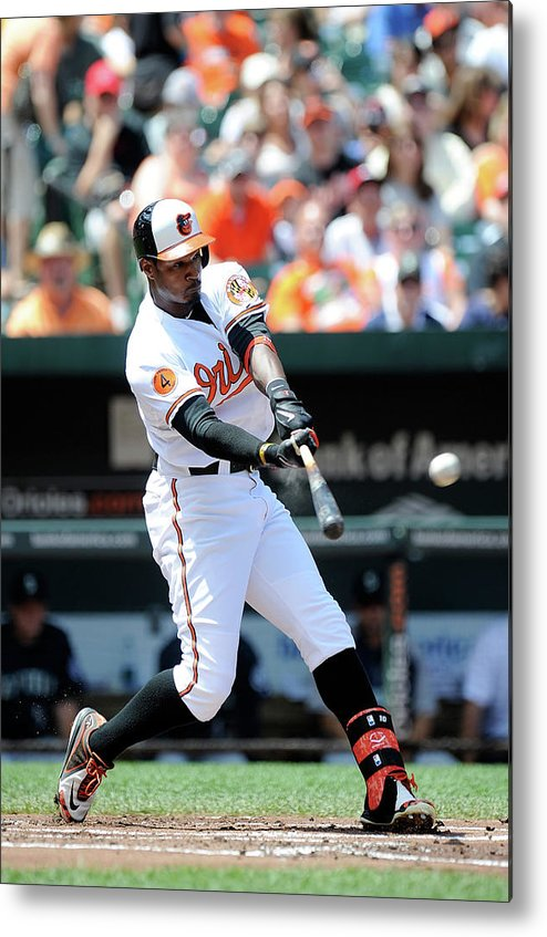 American League Baseball Metal Print featuring the photograph Adam Jones by Greg Fiume