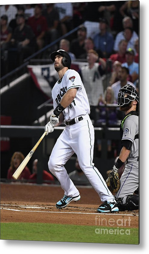 Playoffs Metal Print featuring the photograph Paul Goldschmidt by Norm Hall