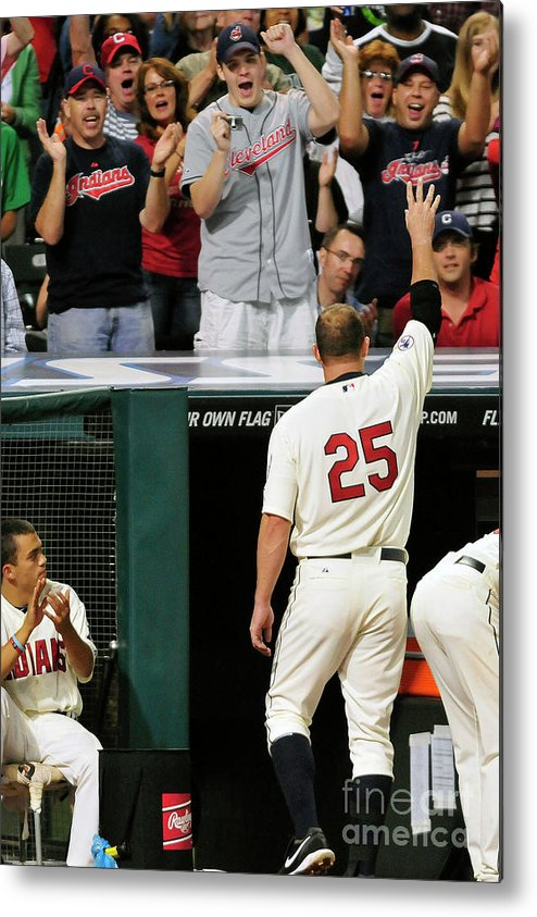 Crowd Metal Print featuring the photograph Jim Thome by Jason Miller
