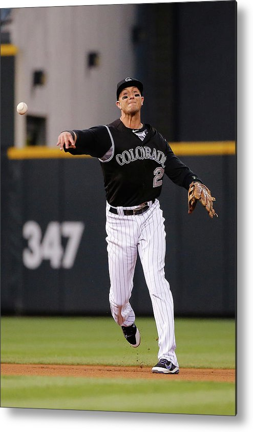 People Metal Print featuring the photograph Troy Tulowitzki by Doug Pensinger