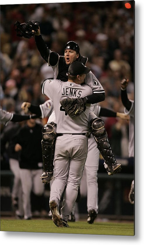 Celebration Metal Print featuring the photograph A. J. Pierzynski by Rich Pilling