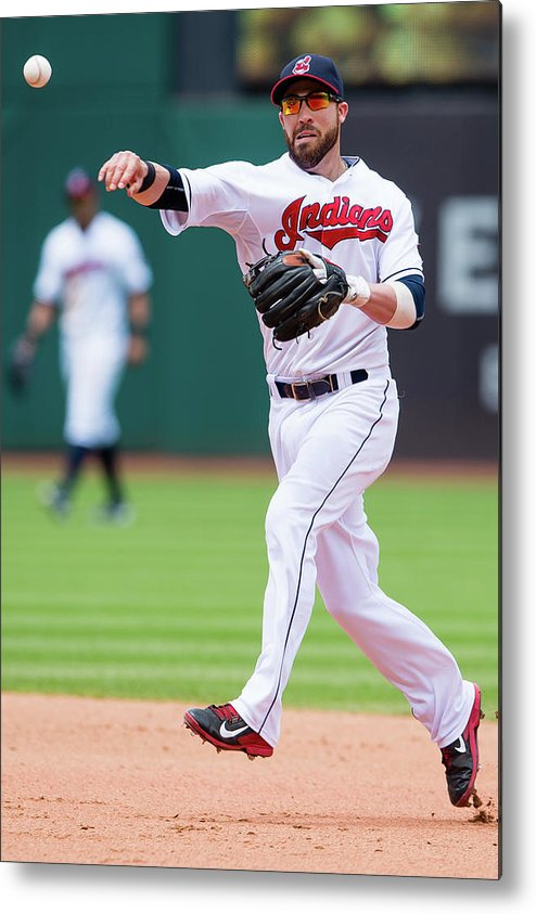Andrew Romine Metal Print featuring the photograph Andrew Romine And Jason Kipnis by Jason Miller