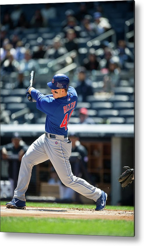 American League Baseball Metal Print featuring the photograph Anthony Rizzo by Rob Tringali