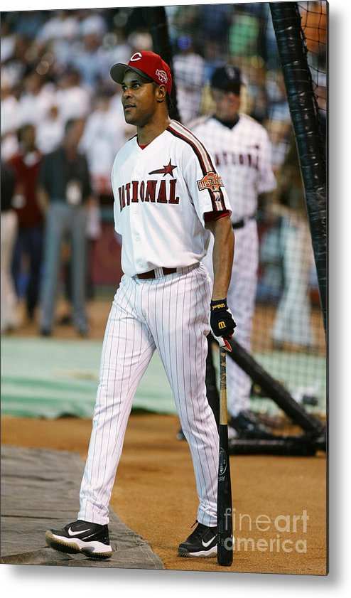 Batting Practice Metal Print featuring the photograph Barry Larkin by Mlb Photos