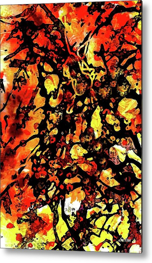 Batik Pattern Metal Print featuring the painting Batik by Hema Rana