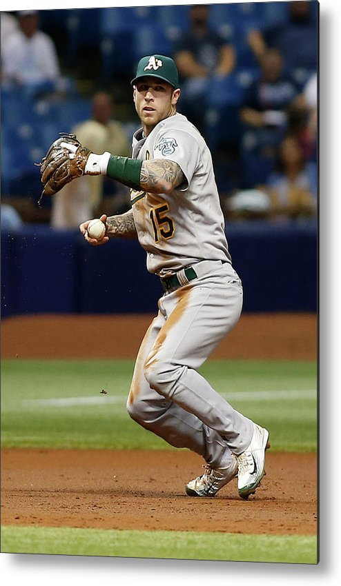 People Metal Print featuring the photograph Bobby Wilson And Brett Lawrie by Brian Blanco