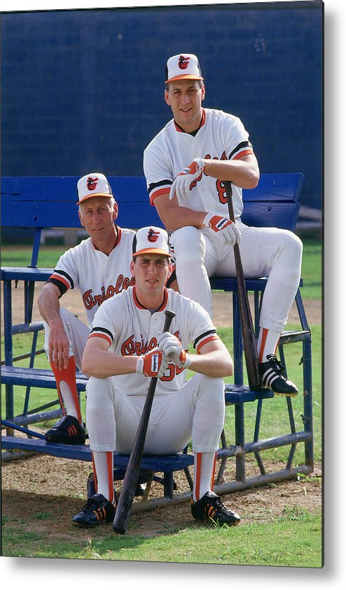 1980-1989 Metal Print featuring the photograph Cal Ripken by Ronald C. Modra/sports Imagery