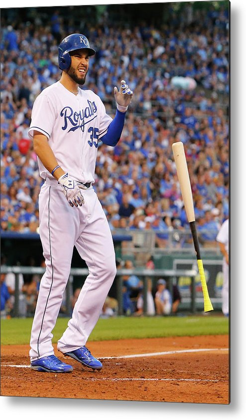 People Metal Print featuring the photograph Eric Hosmer by Kyle Rivas
