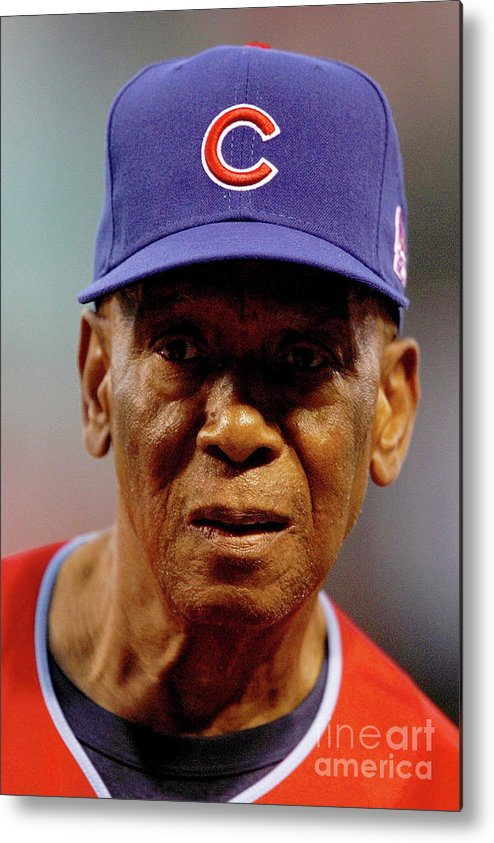 Softball Metal Print featuring the photograph Ernie Banks by Dilip Vishwanat