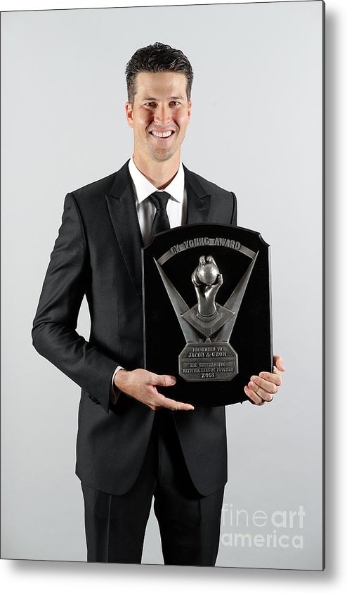Jacob Degrom Metal Print featuring the photograph Jacob Degrom by Alex Trautwig